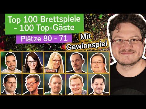 Meine Top 100 Brettspiele mit Gästen | Plätze 80 - 71 und GEWINNSPIEL