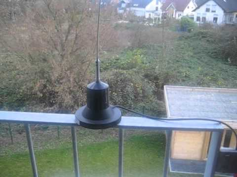 My new Radio Shack 2012 Haarp Signal from Cyprus Wislon 1000 Magmount Antenna on Balcony