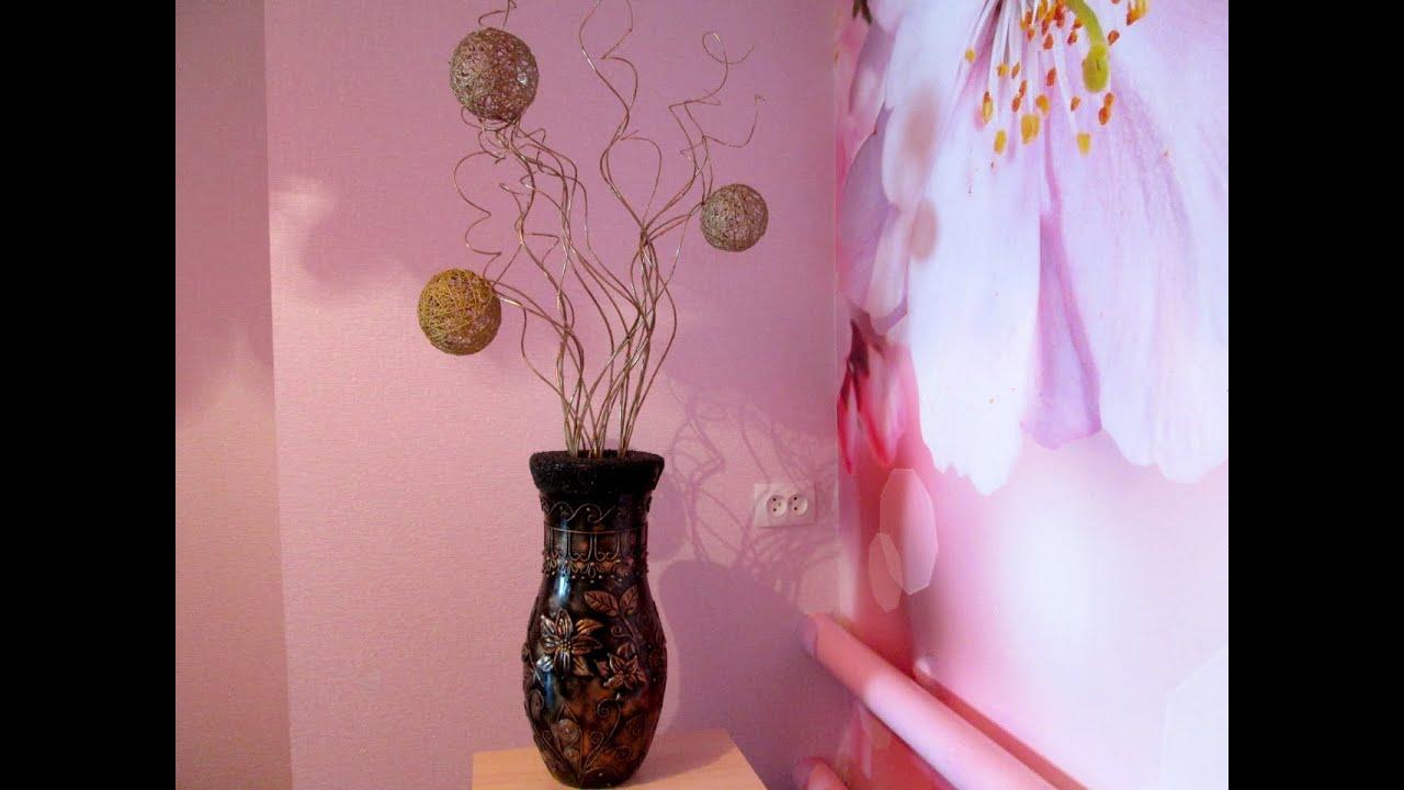 Цветы сделанные своими руками для напольной вазы своими руками