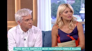 Holly Willoughby threatens Piers Morgan after he calls her grim: