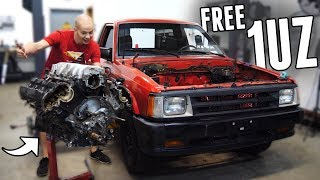 Acquired a FREE 1UZ V8 for the Drift Truck!