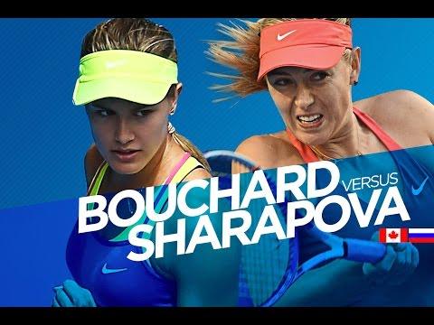 Eugenie Bouchard vs Maria Sharapova Highlights HD 1/4 Australian Open 2015