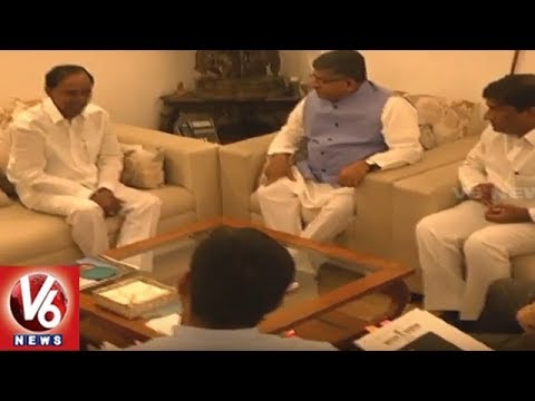 CM KCR Delhi Tour | KCR Meets Union Law Minister Ravi Shankar Prasad Over High Court Division | V6