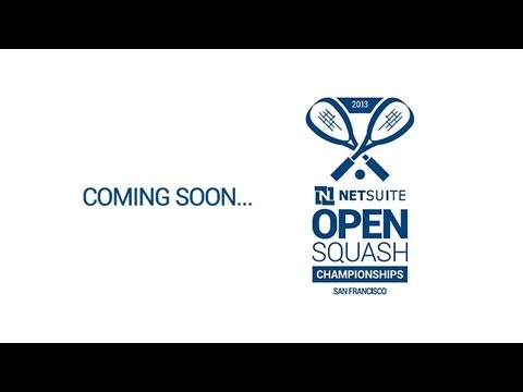 Squash : Gregory Gaultier coming soon to the NETSUITE Open 2013