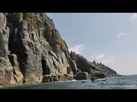 Sea Kayaking Cornwall 2013 -  Porthgwarra -  Porthcurno.