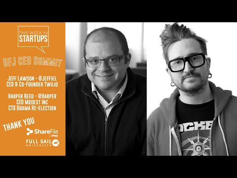 Jeff Lawson (Twilio) & Harper Reed (Obama's reelection) share lessons from technology's cutting edge