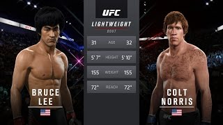 EA Sports UFC 2 Bruce Lee Vs Chuck Norris The Way Of The Dragon 1