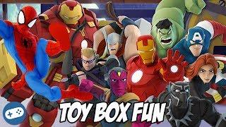 Avengers Infinity War Disney Infinity Toy Box Fun Gameplay Part 1