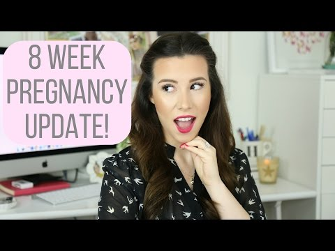 8 Week Pregnancy Vlog: Morning Sickness & Bump Shot! | hayleypaige