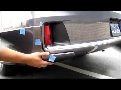 how to change honda accord headlight bulb