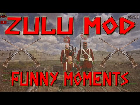 """Mount and Blade Mods  Zulu Mod Hilarious Moments   """"Play the Pipes!!!"""""""