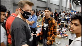 Guy Gets Busted Trading Fake Vlone At SneakerCon. Yeezy Busta Gets Involved