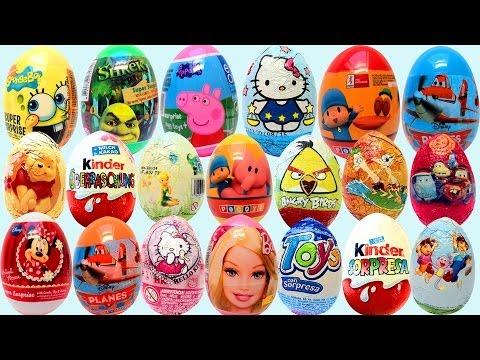 Surprise Eggs Play Doh Huevo Kinder Sorpresa unboxing easter egg by Unboxingsurpriseegg