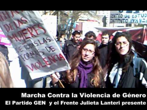 marcha contra la violencia de genero