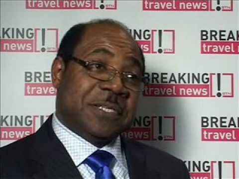 Hon Edmund Bartlett, Jamaica Tourism Centre at WTM 2008
