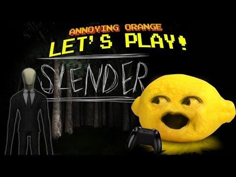 Annoying Orange Let's Play! - SLENDER with Grandpa Lemon
