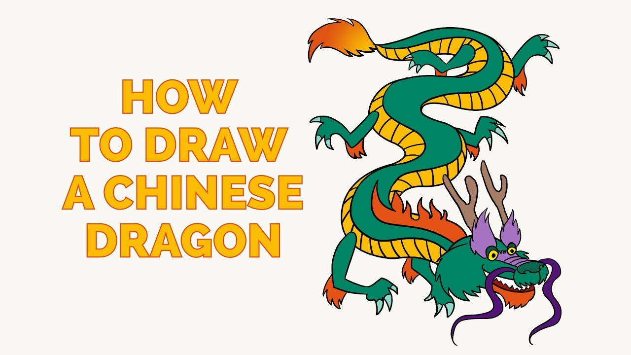 Simple chinese dragon for kids