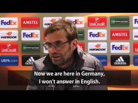Image result for klopp english language