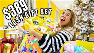 $389 LUSH'S LARGEST HOLIDAY GIFT SET!!! Is it worth it? | Vlogmas Day 5