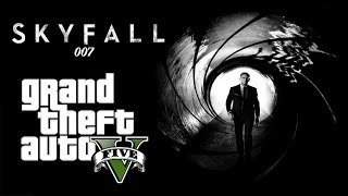 Skyfall - GTA 5 Movie Reenactment | SKYFALL (Train Fight Scene)