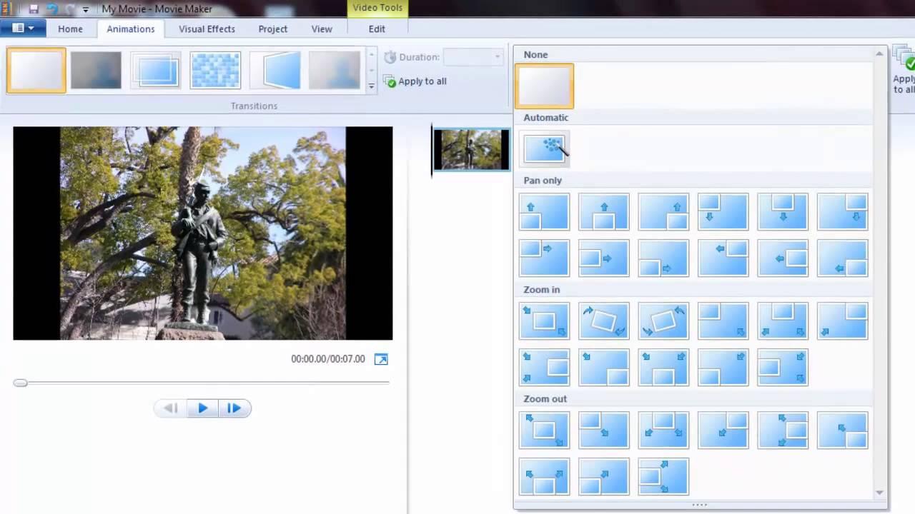 Movie Maker Windows Zoom