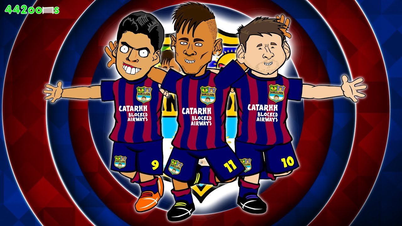 Msn Song F F E Benam Bayern Munich Vs Barcelona Tiga Dua Parody Champions League Semi Final Lima Goals Neymar