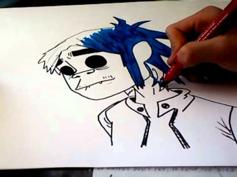 Speed drawing ;D   2D  of goriLLaz