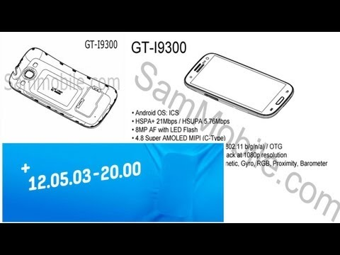 Samsung Galaxy S3 LEAKED Insider Service Manual Show Pictures & Specs GT-I9300!
