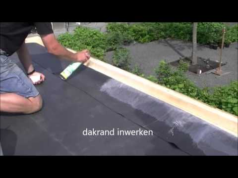 Tegels op plat dak leggen