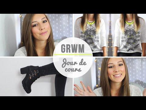 ♡ Get ready with me - Journée de cours ♡
