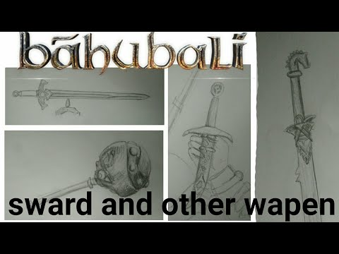 How to draw Bahubali:- The lost lagend sword and other weapons || Drawing tutorial