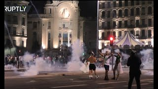 French police clash with Algerian football fans as they celebrate 2nd AFCON win
