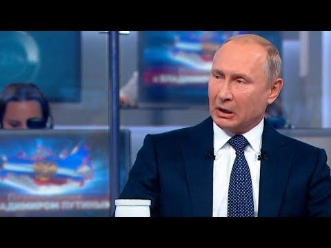 Ложь Путина на Прямой линии 2018