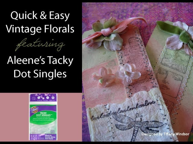 Quick and Easy Vintage Floral Earrings and Tag featuring Aleene's Tacky Dots