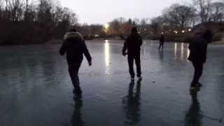 "2015 Central Park ""The Pond on Ice"""