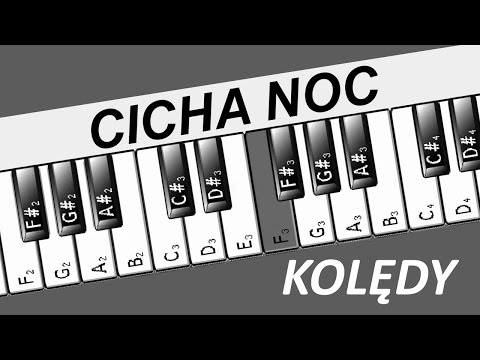Jak Grać ♫ CICHA NOC ♫ Na Keyboardzie || Prostykeyboard.blogspot.com ||