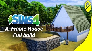 Let's Build an A-frame house in Sims 4