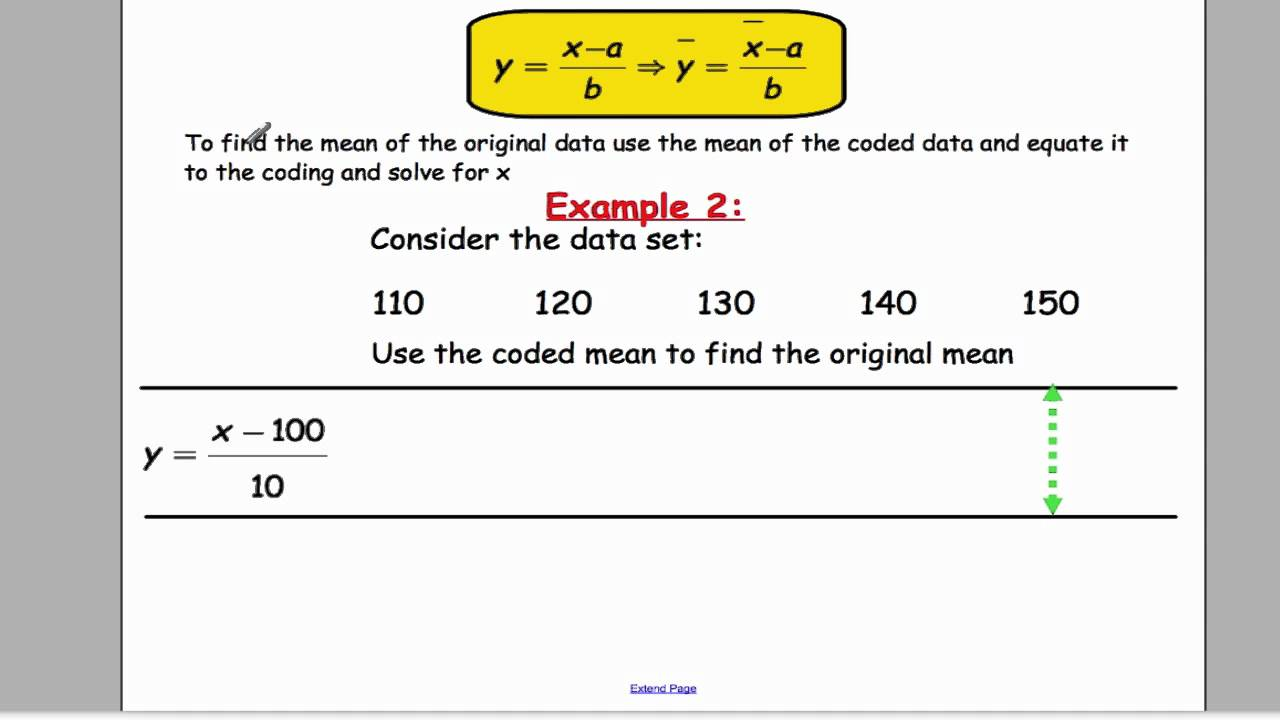 edexcel s1 tutorial 3 coding the mean