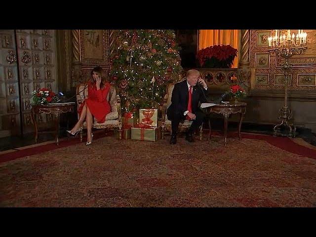 Trump speaks to children at Christmas