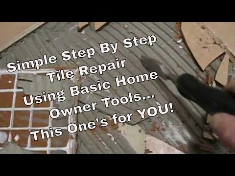 How to fix,repair and replace cracked damaged ceramic floor tile