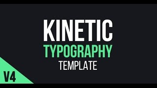 Kinetic Typography - After Effects Template - Videohive