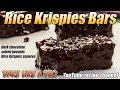 Dark Chocolate Salted Peanut Rice Krispies Bars Recipe PREVIEW