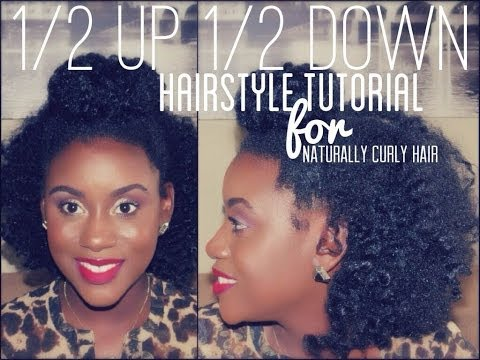 Half Bun Half Down Natural Hair 3/ Half up Bun Half Down
