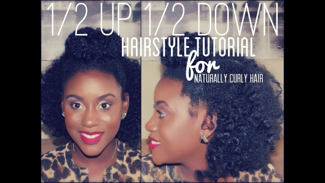 Half Bun Half Down Natural Hair Half up Bun Half Down Tutorial