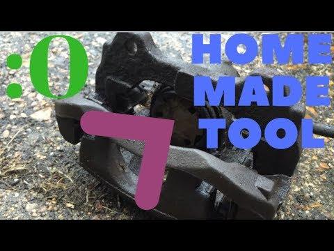 Brake Caliper piston Compression tool homemade   NOT G CLAMP