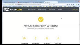 PlatinCoin  Регистрация Платинкоин