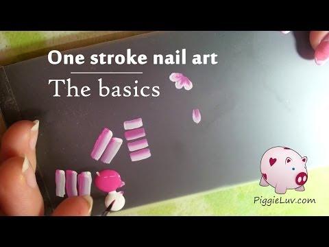 One stroke nail art tutorial - The basics