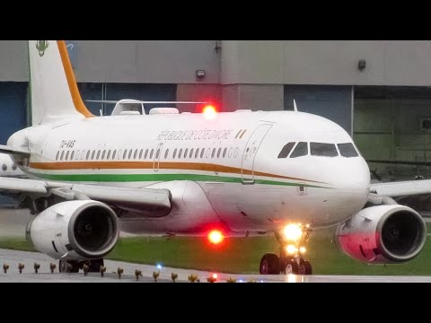 Ivory Coast Government (Presidential Flight) A319(CJ) departing Montreal (YULCYUL)