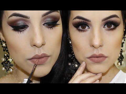 Maquiagem Chic usando pigmentos