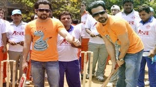 Ek Thi Dayan - Emraan Hashmi Promotes 'Ek Thi Daayan' At Media Cup Cricket Tournament